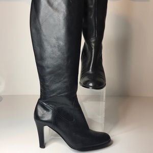 Ralph Lauren Bryce Black Leather Boots  Size 7